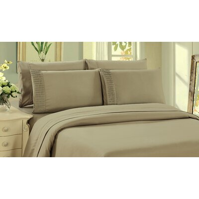 Byrnes Comfort and Soft Fitted Sheet Size: King, Color: Taupe