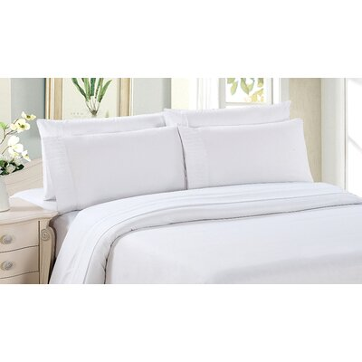 Byrnes Comfort and Soft Flat Sheet Size: King, Color: White