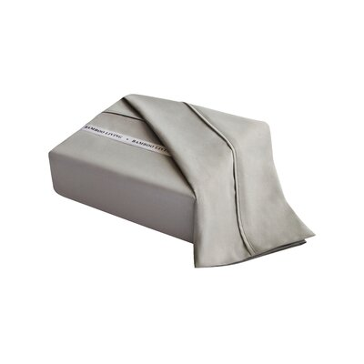 Applerouth Rayon from Bamboo Solid Sheet Set Size: Twin, Color: Silver