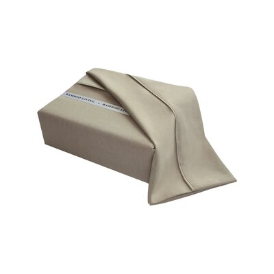 Applerouth Rayon from Bamboo Solid Sheet Set Size: Double/Full, Color: Taupe