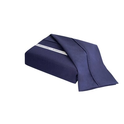 Applerouth Rayon from Bamboo Solid Sheet Set Size: Double/Full, Color: Navy Blue