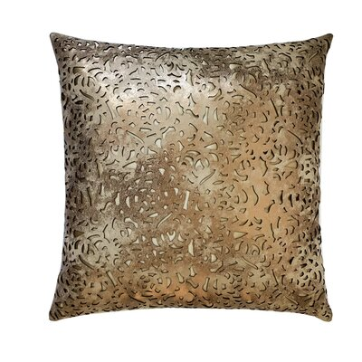 Rose Leather Throw Pillow Color: Copper/Beige