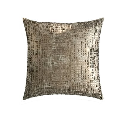 Wave Leather Throw Pillow Color: Copper/Beige