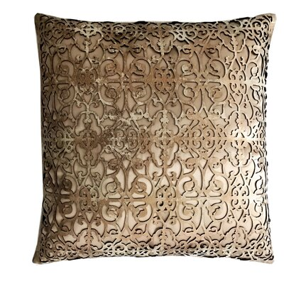 Palace Leather Throw Pillow Color: Copper/beige