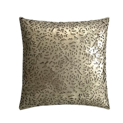 Rose Leather Throw Pillow Color: Gold/Beige
