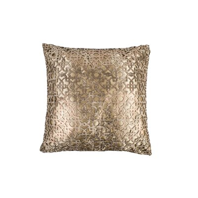 Ottoman Leather Throw Pillow Color: Copper/beige