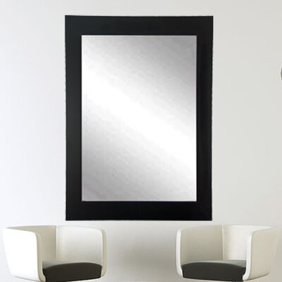 """Tall Vanity Wall Mirror Size: 32"""" H X 21.5"""" W X 0.75"""" D, Finish: Matte Black"""