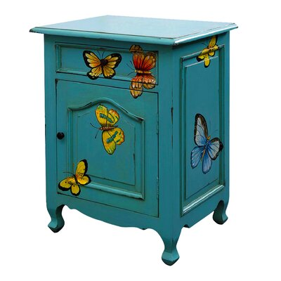 Butterfly 1 Drawer Nightstand
