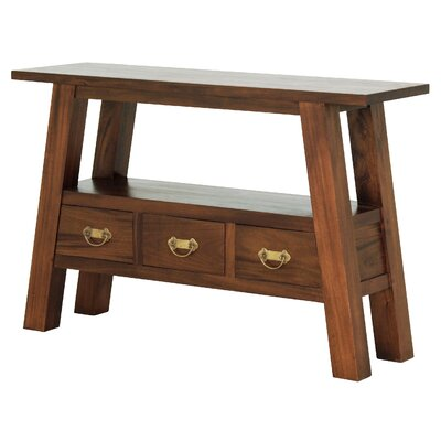 Japanese Fine Handcrafted Console Table Finish: Walnut