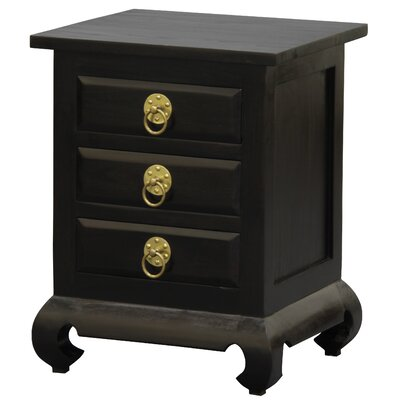 Shanghai Fine Handcrafted Solid Mahogany Wood Nightstand Color: Espresso