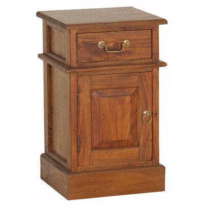 Charlotte Fine Handcrafted Solid Mahogany Wood 1 Drawer Nightstand