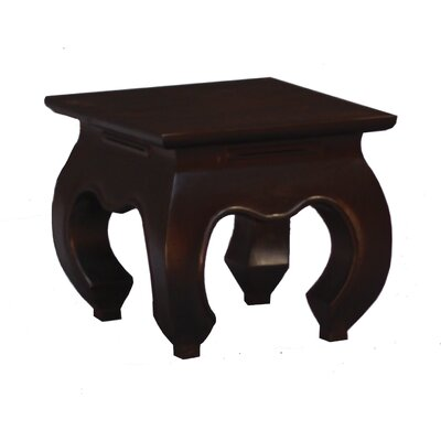 Fine Handcrafted Solid Mahogany Wood Opium End Table