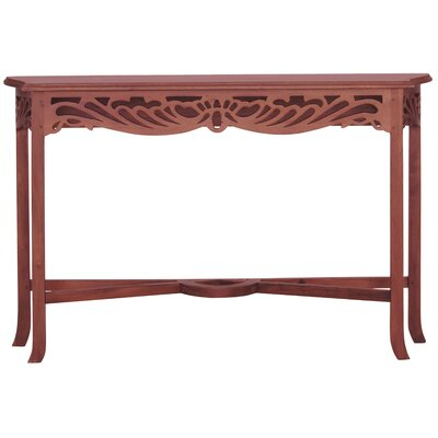 Bordeaux Fine Handcrafted Solid Mahogany Wood Console Table Finish: Light Pecan