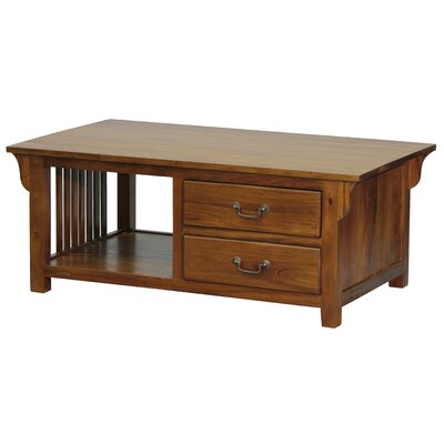 Marseilles Fine Handcrafted Solid Mahogany Wood Coffee Table
