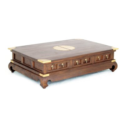 Ming Fine Handcrafted Solid Mahogany Wood Coffee Table