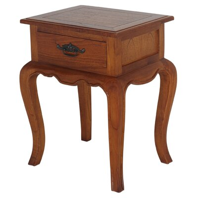 French Provincial Fine Handcrafted Solid Mahogany Wood Nightstand