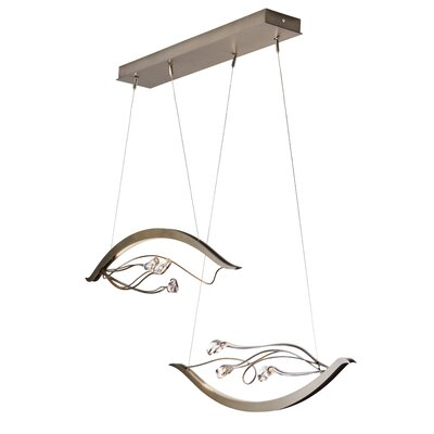 Courb� Duet LED Cascade Pendant Finish: Natural Iron