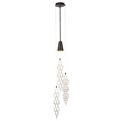 Marrakesh 1-Light Pendant Size: 64.6 H x 10.7 W x 10.7 D, Finish: Natural Iron