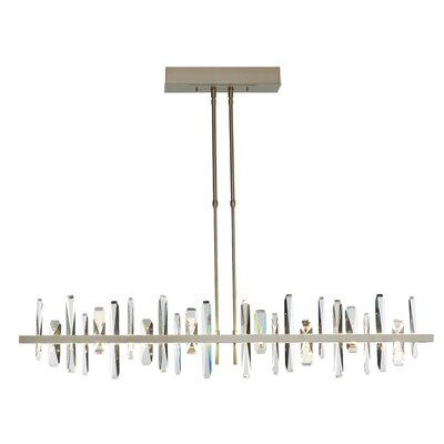 Solitude LED Pendant Size: 61.4 H x 51.9 W x 5.3 D, Finish: Natural Iron