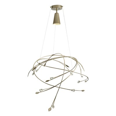 Gaia 1-Light Geometric Pendant Size: 68.6 H x 31.4 W x 31.4 D, Finish: Natural Iron