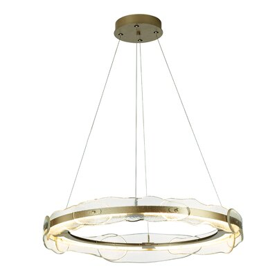 Portola LED Geometric Pendant Finish: Burnished Steel
