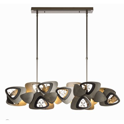 Kulik 4-Light Kitchen Island Pendant Finish: Burnished Steel, Size: Long