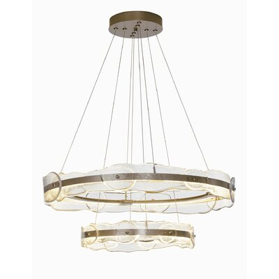 Portola Tiered LED  Geometric Pendant Finish: Burnished Steel