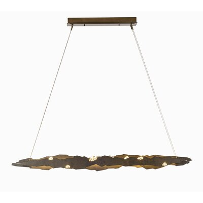 Quinby LED Kitchen Island Pendant Finish: Burnished Steel, Size: Standard
