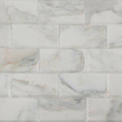 3 x 6 Marble Mosaic Tile in Calacatta