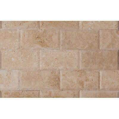 3 x 6 Travertine Mosaic Tile in Ivory