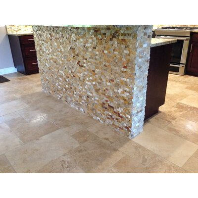 1 x 2 Travertine Mosaic Tile in Leonardo