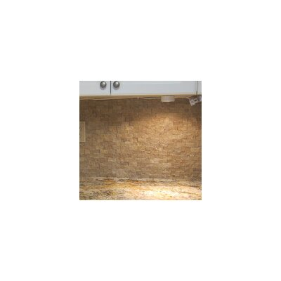 Splitface 1 x 2 Travertine Mosaic Tile in Noche