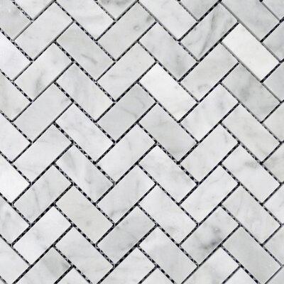 1 x 2 Mosaic Tile in Bianco Venantino