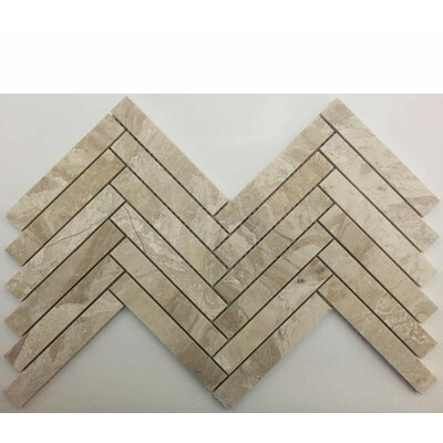 Herringbone Honed 1 x 6 Mosaic Tile in Karya Royal