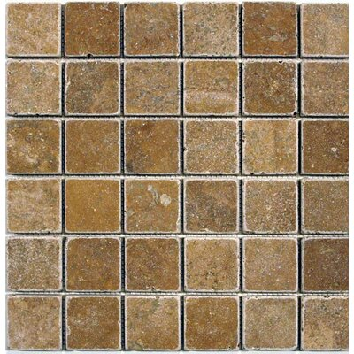 Tumbled 2 x 2 Mosaic Tile in Noche