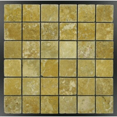 Tumbled 2 x 2 Mosaic Tile in Gold
