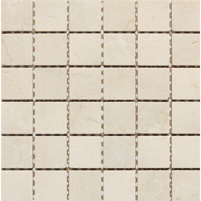 Tumbled 2 x 2 Mosaic Tile in Crema Nouva