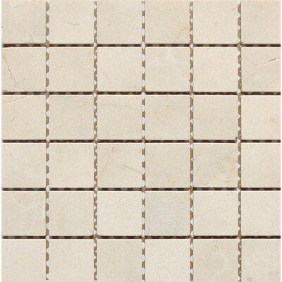 Tumbled 2 x 2 Mosaic Tile in Crema Nouva