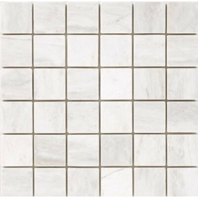Polished 2 x 2 Mosaic Tile in Bianco Dolomite