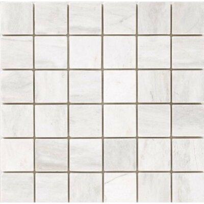 Polished 2 x 2 Mosaic Tile in Bianco Dolomite