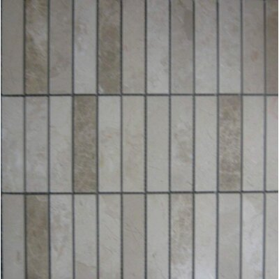 Polished 1 x 4 Mosaic Tile in Crema Nouva/Emperador