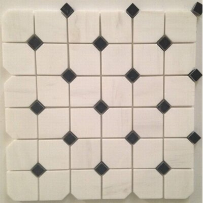 Hex Polished 2 x 2 Mosaic Tile in Bianco Dolomite