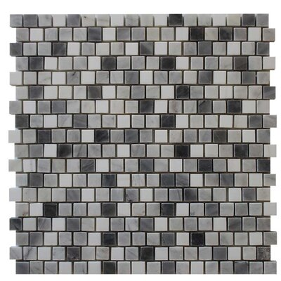 Polished 0.63 x 0.63 Mosaic Tile in Bardiglio