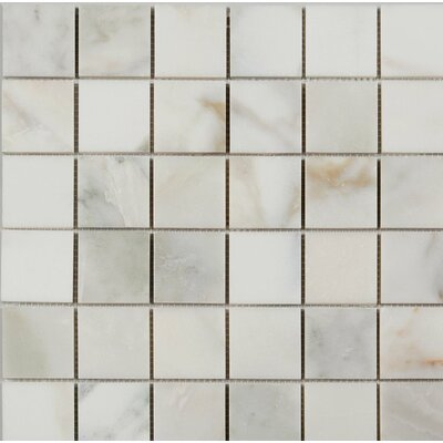 Polished 2 x 2 Mosaic Tile in Calacatta Oro