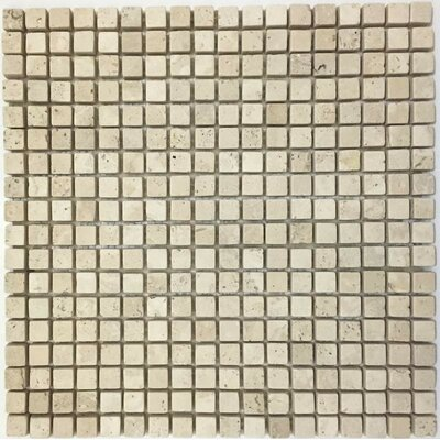 Tumbled 0.63 x 0.63 Mosaic Tile in Ivory