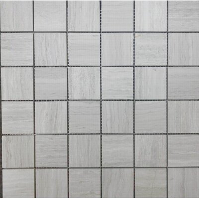 Honed 2 x 2 Mosaic Tile in Wooden White