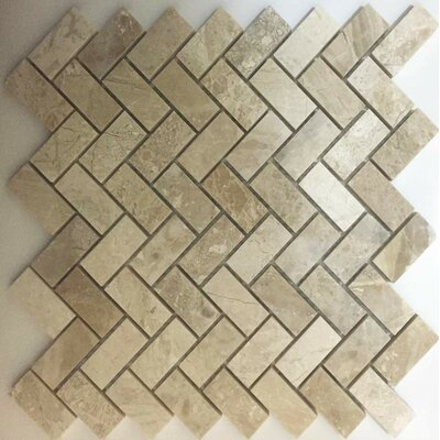 Herringbone Polished 1 x 2 Mosaic Tile in Diana Royal