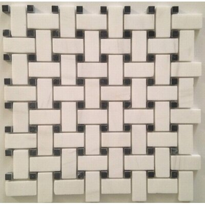 Mosaic Tile in Bianco Dolomite