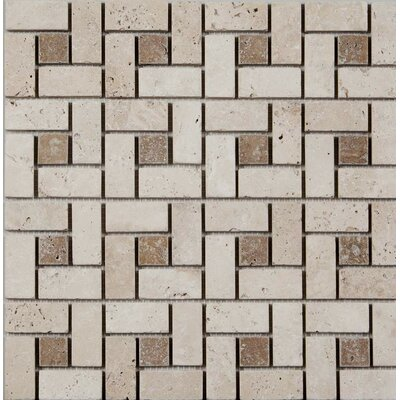 12 x 12 Mosaic Tile in Ivory