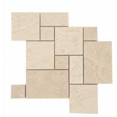 Honed and Filled Random Sized Travertine Tile in Ivory